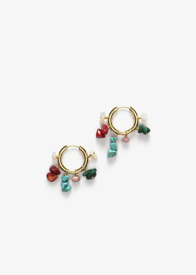 Carine Hoop Earrings Gold