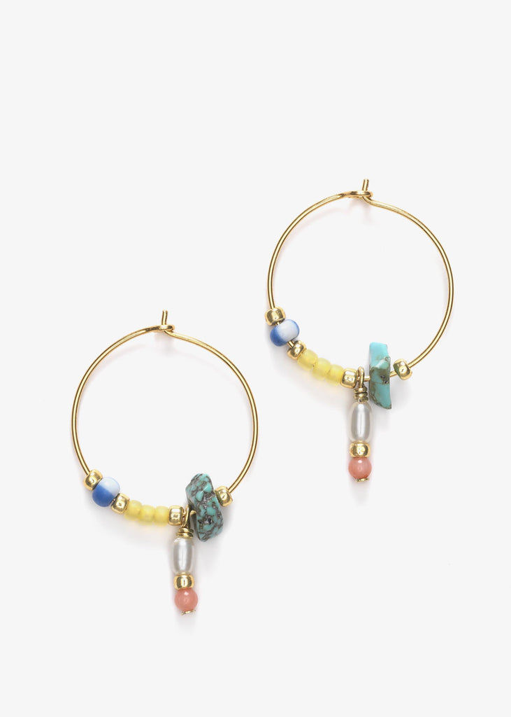 Hanalei Hoop Earrings Pale Banana