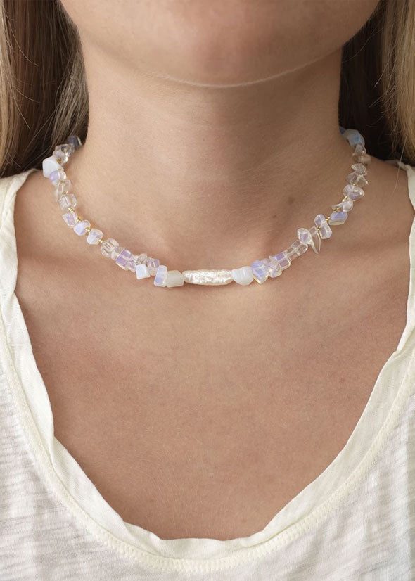 Ines Necklace Ice Crystal