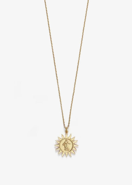 Lady Liberty Necklace Gold