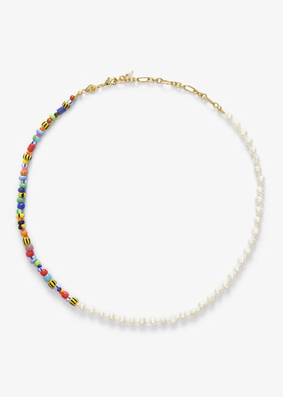 Pearly Alaia Necklace Gold