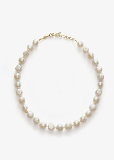 Stellar Pearly Necklace Gold