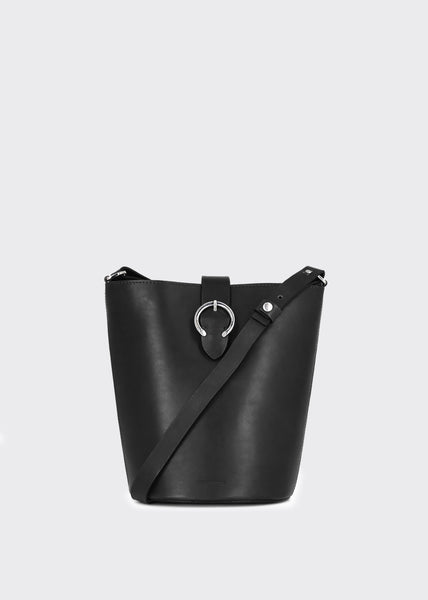 Aria Bucket Evening Bag Black
