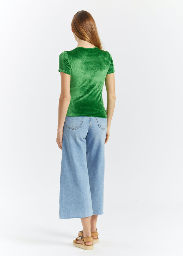 Omo Tee Shiny Velours Fawn Green