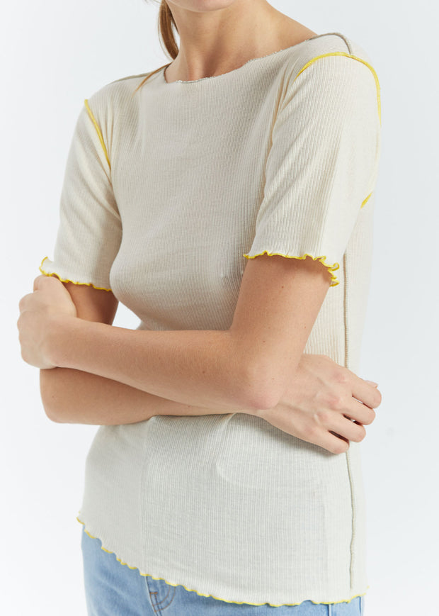 Vein Tee Off White