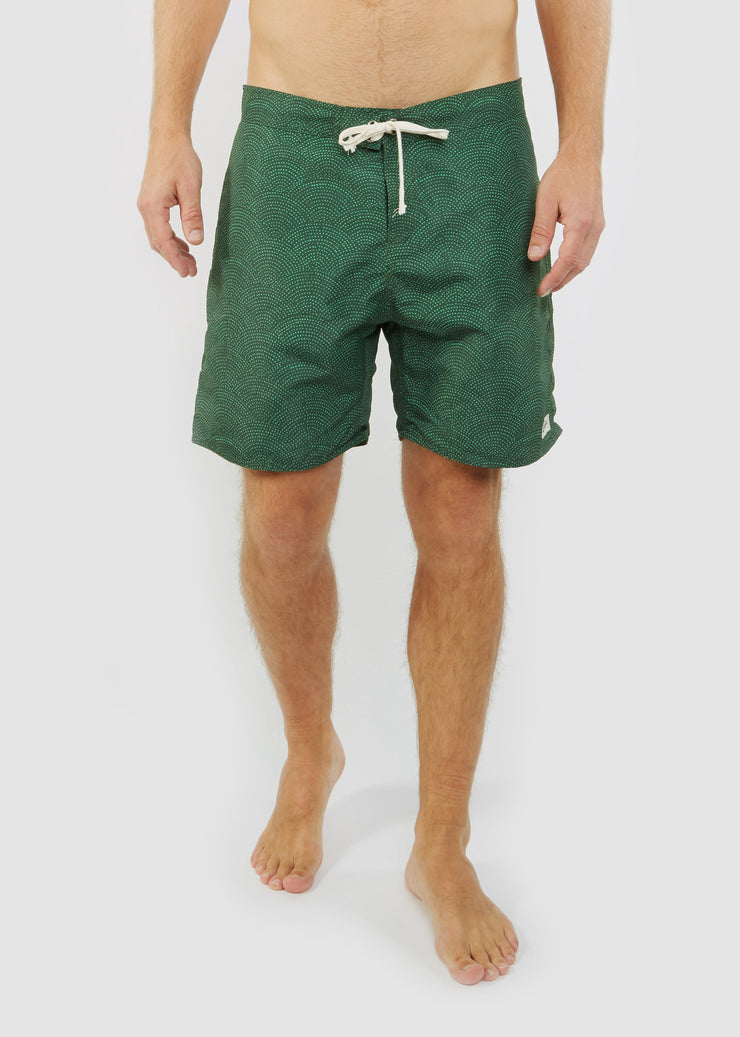 Surf Trunk Green Dotwave