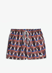 Swim Trunk Orange Deco
