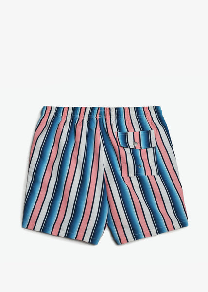 Swim Trunk Pink Stripe Gradient