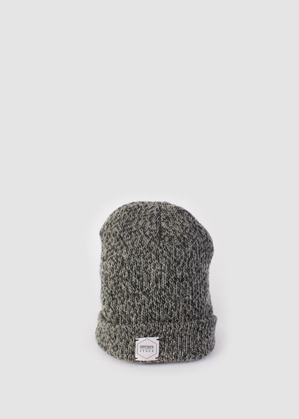 Beanie Charcoal Melange Upstate Stock Mens Hats- someplace