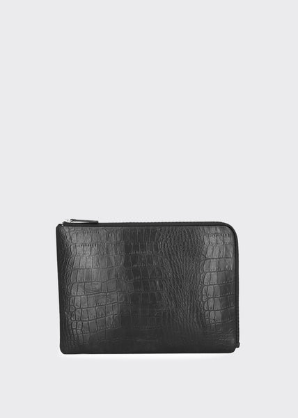 Bond Croco Laptop Sleeve Black