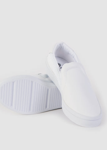 Court Vantage Slip On Shoes White