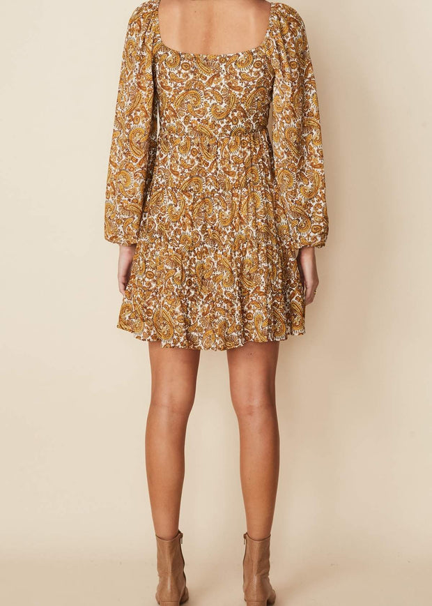 Indira Mini Dress La Medina Paisley Print
