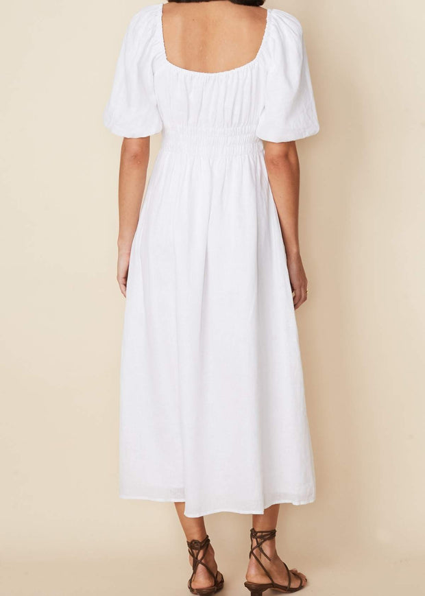 Maurelle Midi Dress White