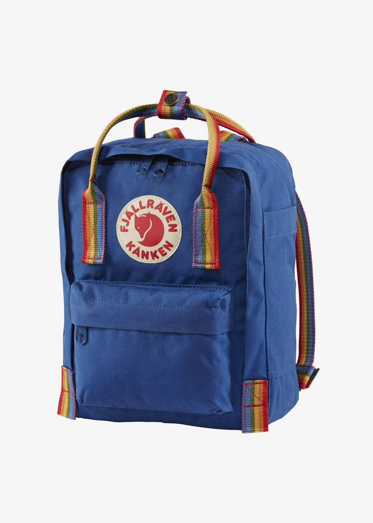 Kanken Mini Backpack Rainbow Deep Blue