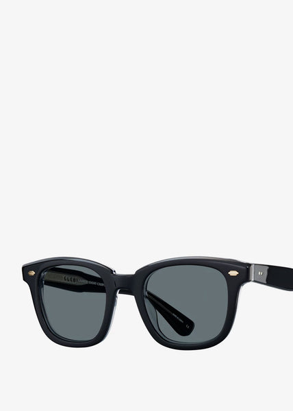 Calabar Sunglasses Black Laminate Crystal/Semi-Flat Blue