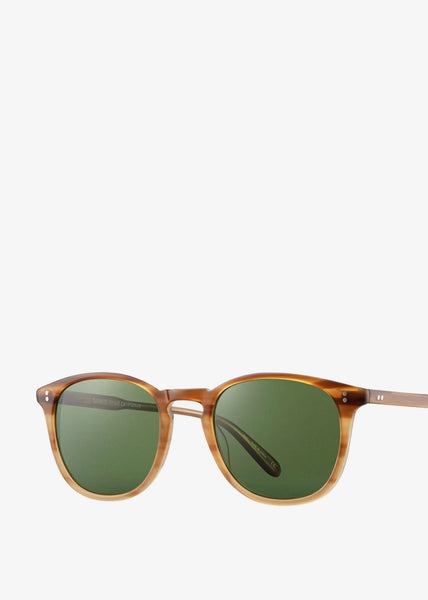 Kinney Sunglasses Blonde Tortoise Fade/Pure Green