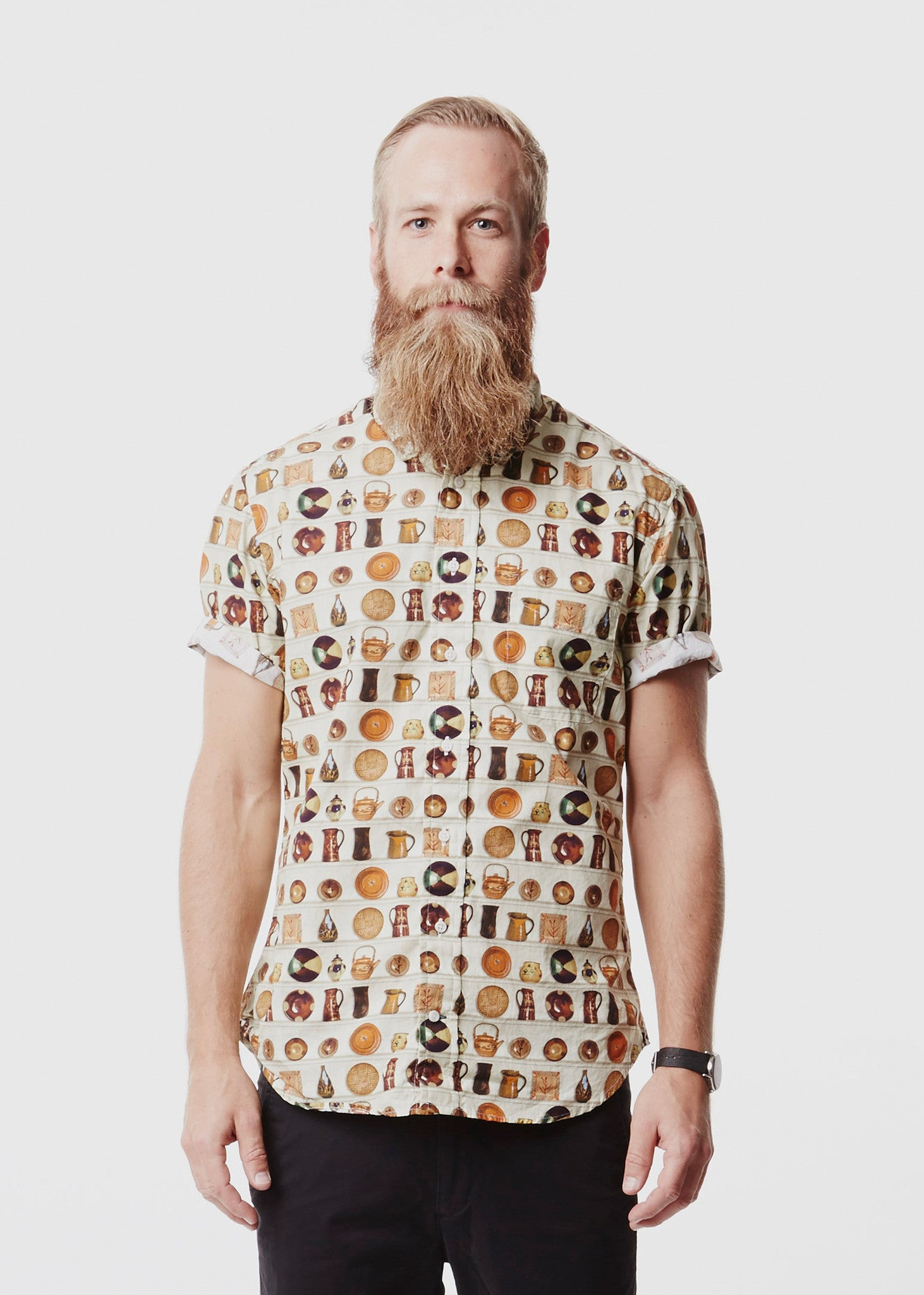 Vintage Short Sleeved Shirt Pot Head