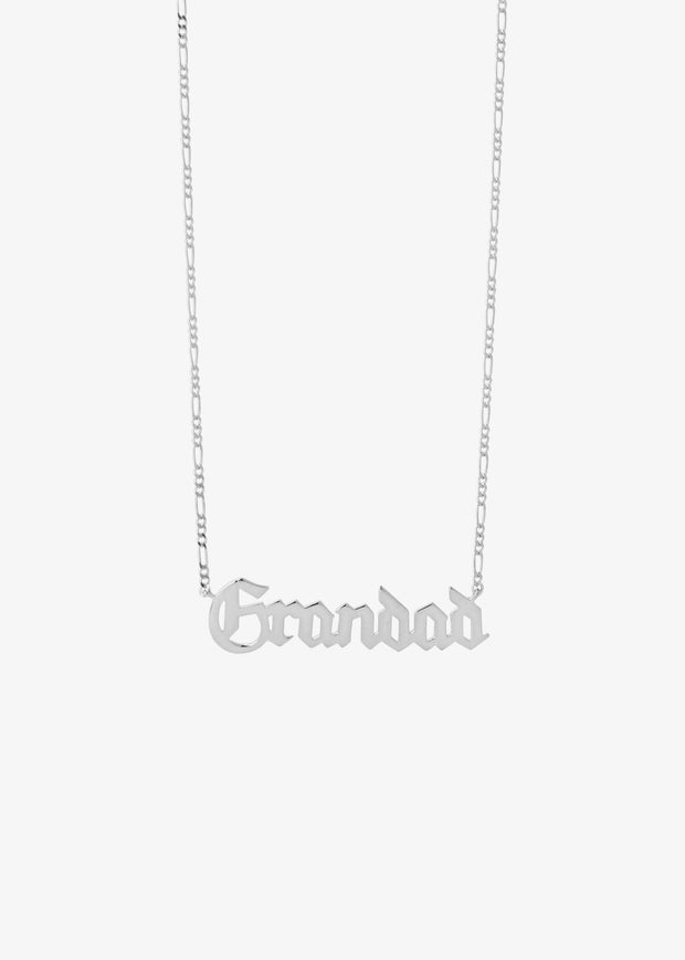 Grandad Necklace Silver