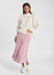 Sophy High Neck Knit Jet Stream