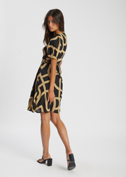 Leyla Wrap Dress Just A Sign Print