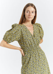 Dove Dress Multi Flower AOP