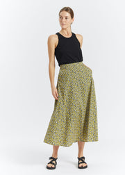Dove Maxi Skirt Multi Flower AOP