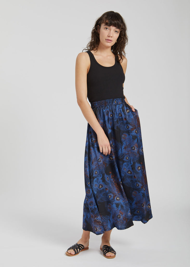 Heather Maxi Skirt Wild Spirit Print