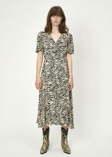 Sephina Wrap Dress Zebra AOP