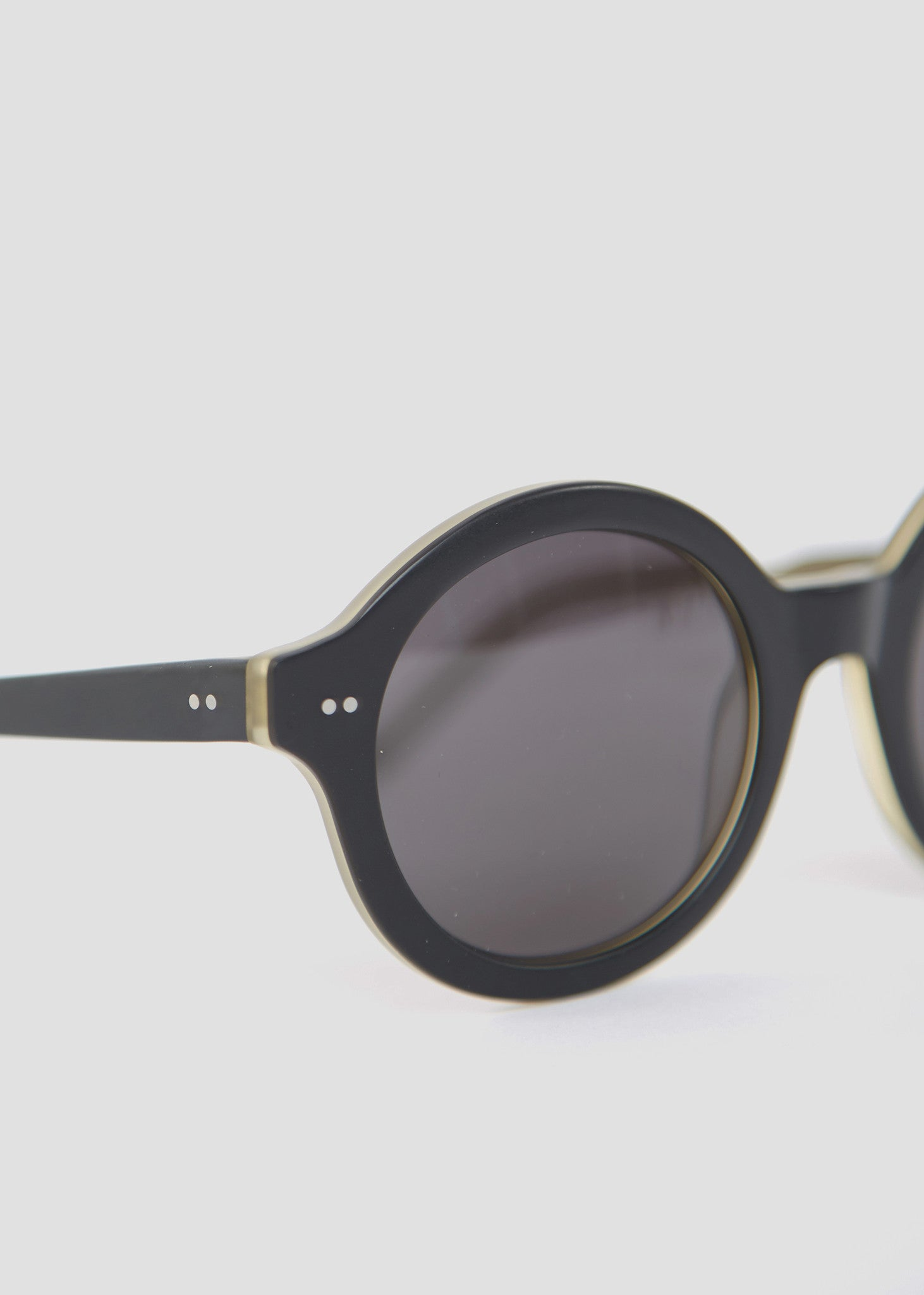 About A Round Sunglasses Black/Tobacco Stain Kaibosh Womens Eyewear- someplace