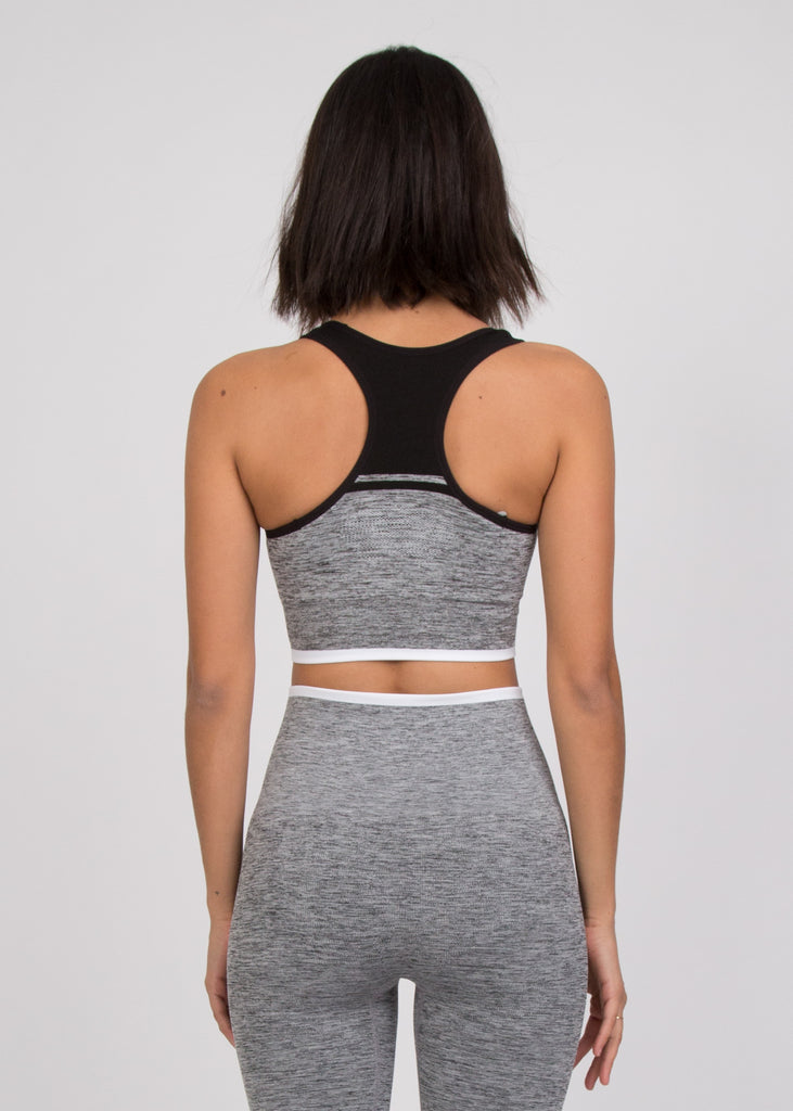 A-Team Sports Bra Grey Marl