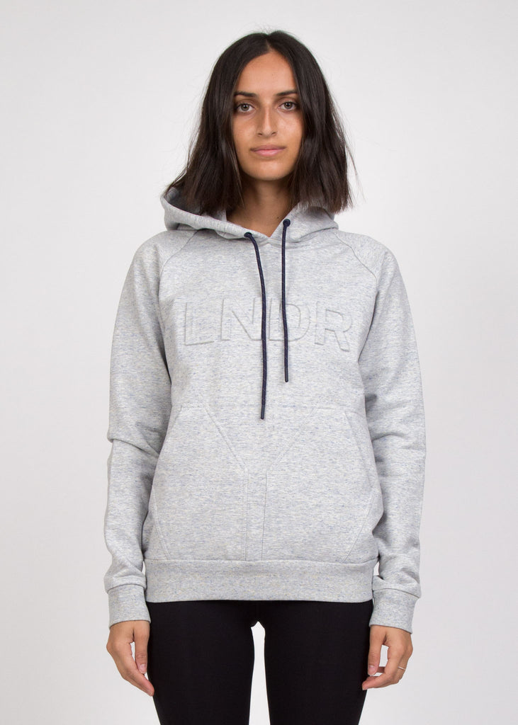 College Press Hoodie Grey Marl