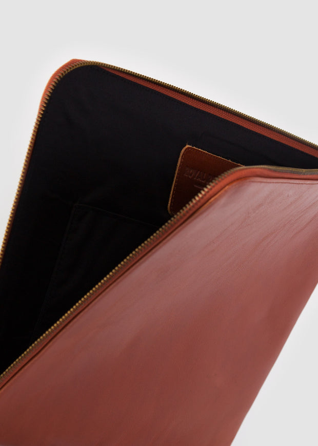 Laptop Sleeve with Zip Cognac