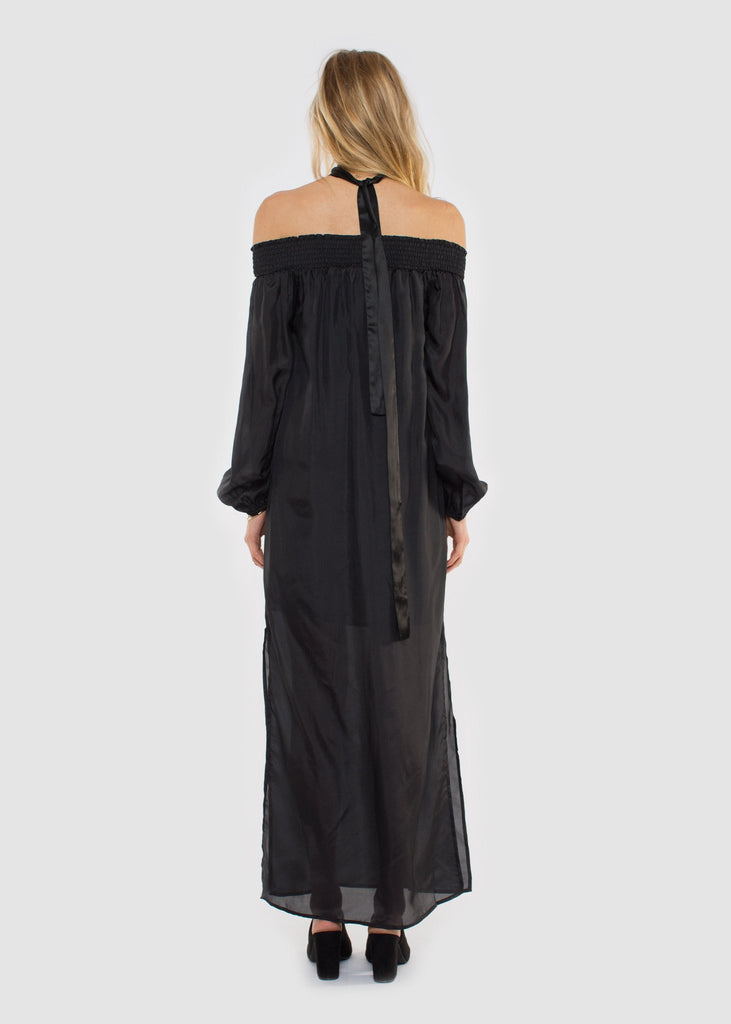 Lola Silk Dress Black