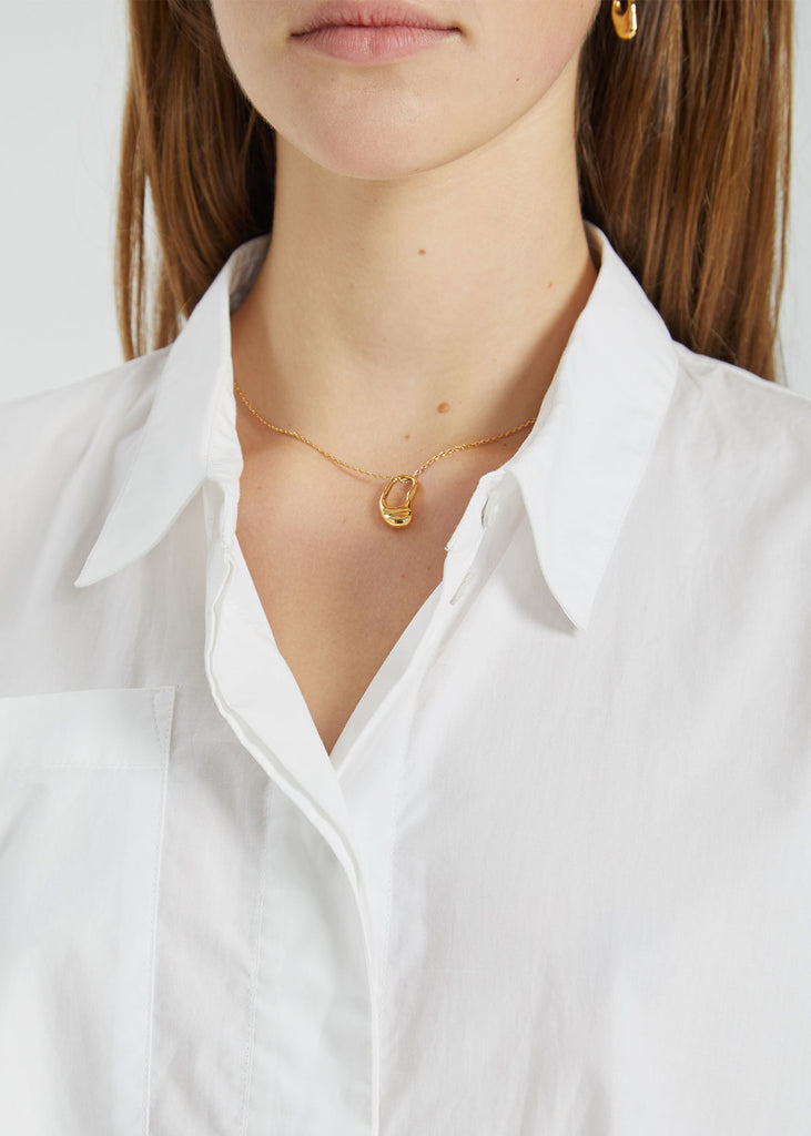 Pebble Mini Necklace Gold