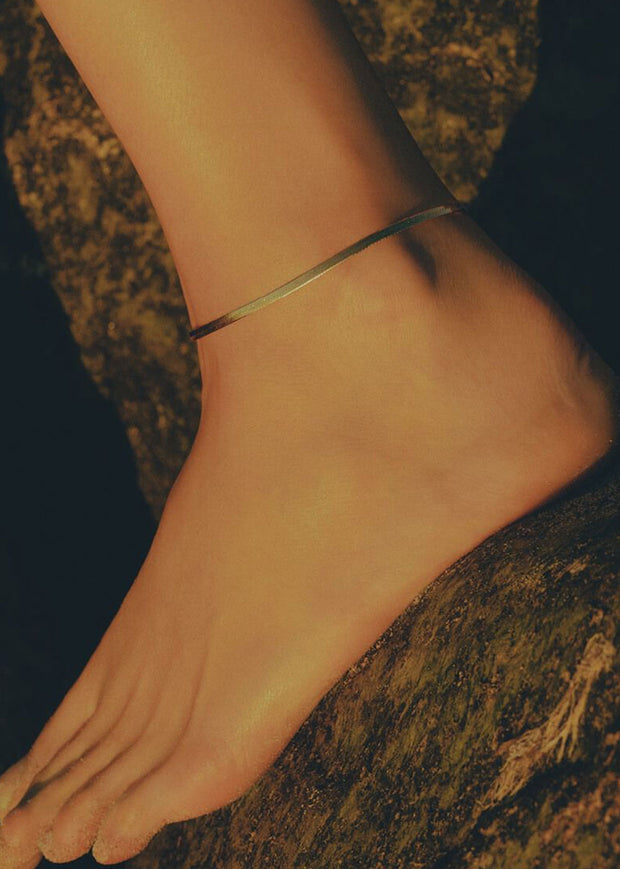 Piatto Anklet Gold
