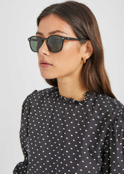 Genug Sunglasses Black Pewter