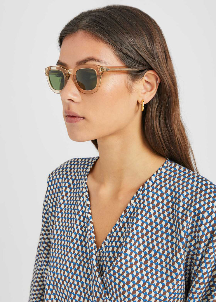 Telena Sunglasses Cinnamon/Flesh Calibre Green