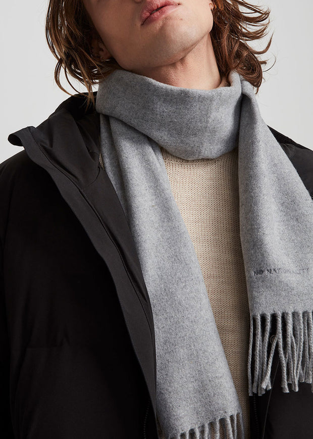 Scarf One Grey Melange