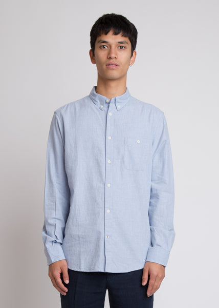 New Derek Long Sleeve Shirt Light Blue