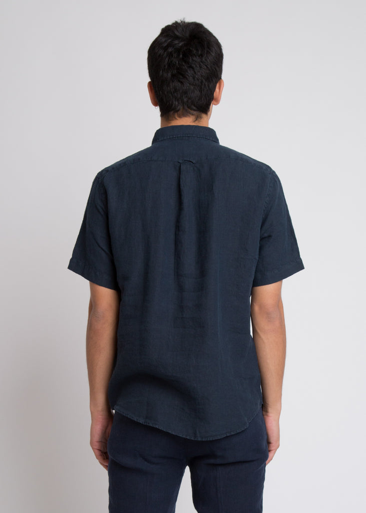 New Derek S/S Shirt Navy Blue