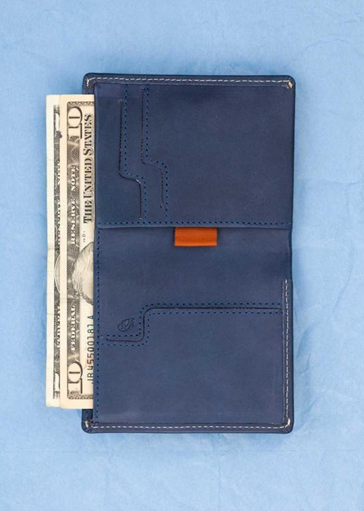 Note Sleeve Wallet Blue Steel