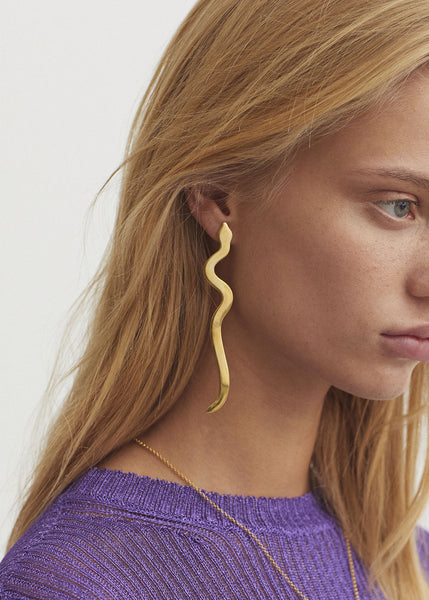 Serpiente Earrings Gold