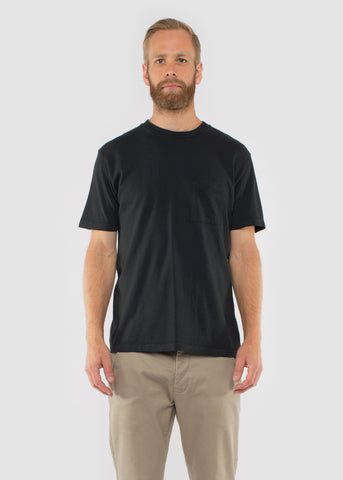 Pocket Tee Washed Black Army Jersey