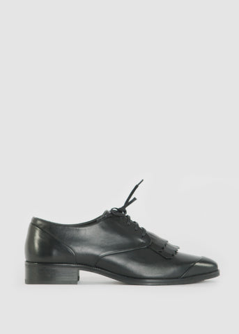 Prime Derby Toe Cap Shoes Black
