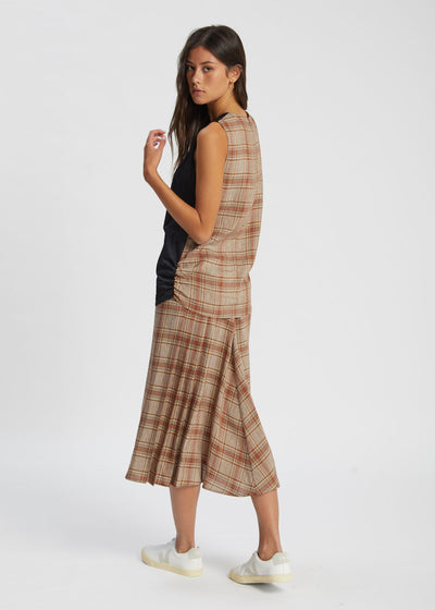 Bella Top Black/Brown Check