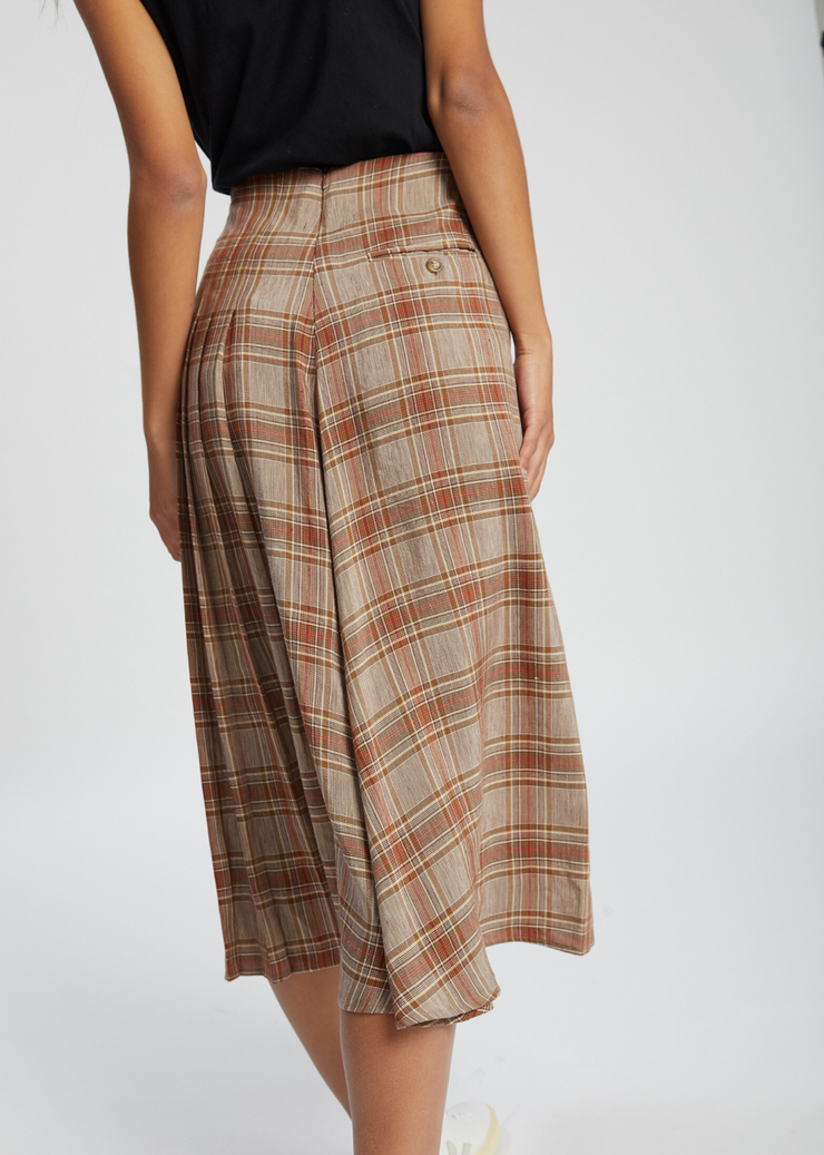 Flow Skirt Brown Check