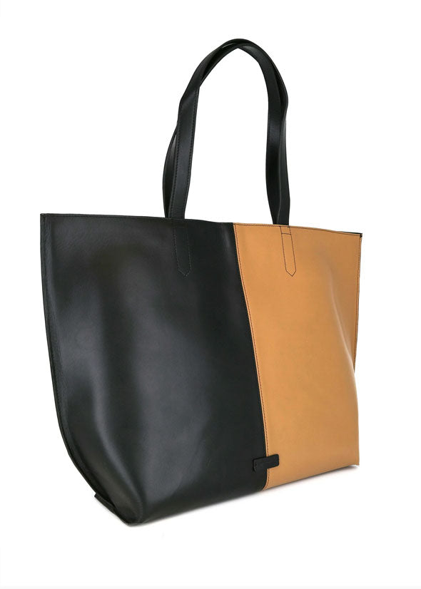 Fusion Colourblock Shopper Bag Black