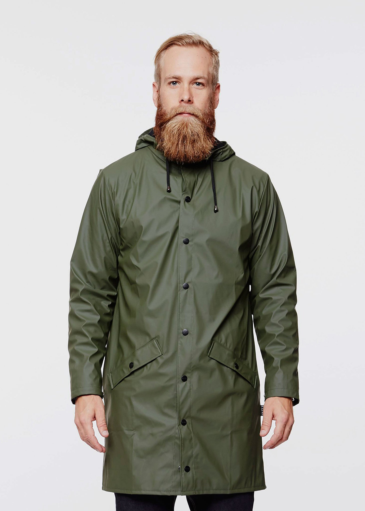 Long Jacket Raincoat Green