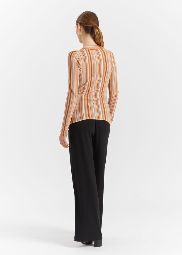 Vala Stripe Knit Faded Terracotta