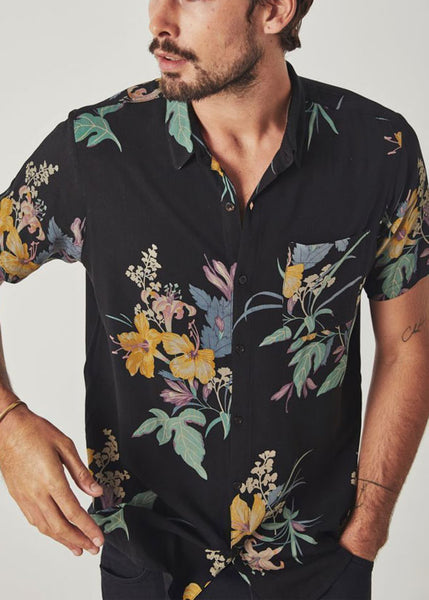 Bon Shirt Beer Garden Tropical Black